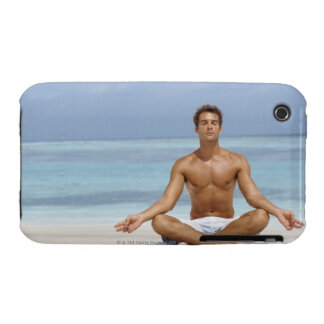 Maldives, Handsome young man meditating in a iPhone 3 Case-Mate Cases