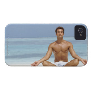 Maldives, Handsome young man meditating in a iPhone 4 Cases