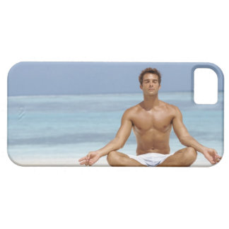 Maldives, Handsome young man meditating in a iPhone 5 Cases
