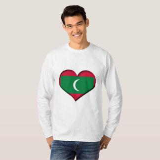 Maldives Heart Flag T-Shirt