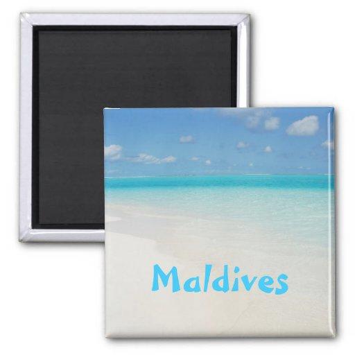 Maldives honeymoon beach island scene fridge magnet