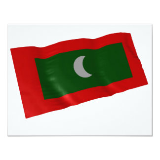 maldives 11 cm x 14 cm invitation card