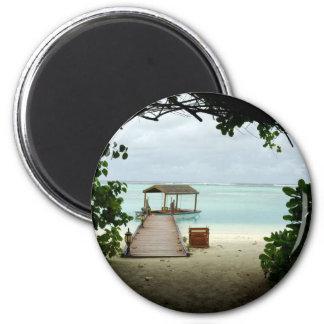 Maldives Island Boat Magnet