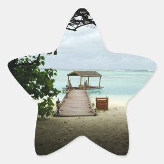 Maldives Island Boat Star Sticker