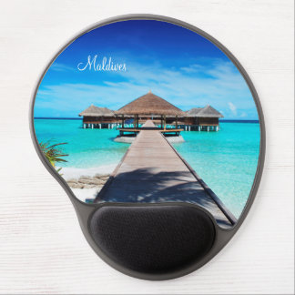 Maldives island romantic holiday by storeman. gel mouse mat