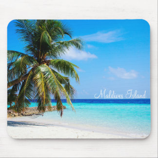 Maldives island romantic holiday by storeman. mouse mat