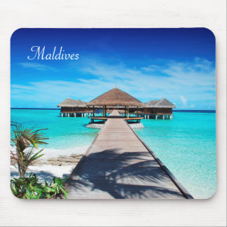Maldives island romantic holiday by storeman. mouse mat