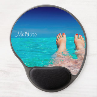 Maldives island romantic holiday gel mouse mat