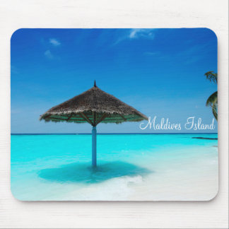 Maldives island romantic holiday mouse mat