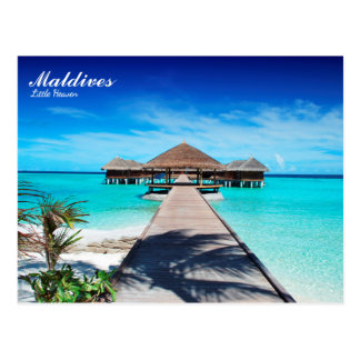 Maldives island romantic holiday postcard