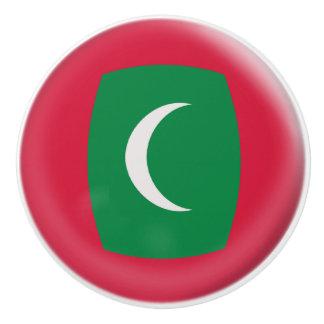 Maldives Maldive Islands Flag Ceramic Knob