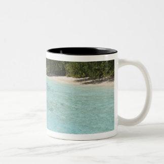 Maldives, Male Atoll, Kuda Bandos Island Two-Tone Coffee Mug