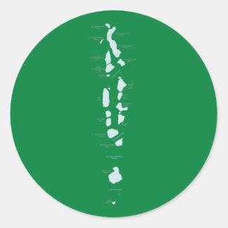 Maldives Map Sticker