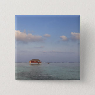 Maldives, Meemu Atoll, Medhufushi Island, luxury 15 Cm Square Badge