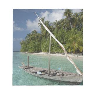 Maldives, North Male Atoll, Island of Kuda Notepad