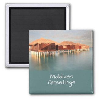 Maldives Paradise Beach Bungalows Souvenir Magnet