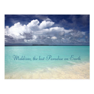Maldives paradise island Postcard
