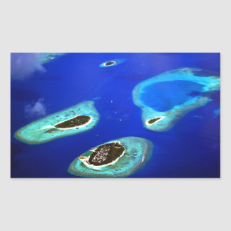 Maldives Rectangular Sticker