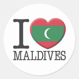 Maldives Round Sticker