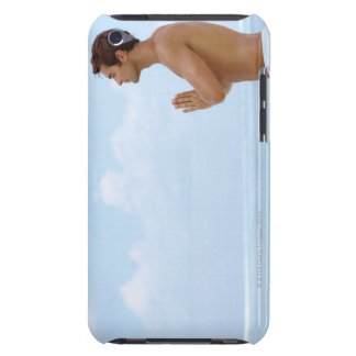 Maldives, Smart young guy practicing yoga at iPod Touch Covers