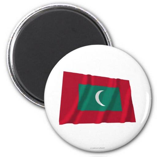 Maldives Waving Flag Fridge Magnet