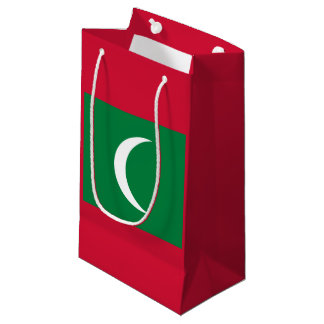 Maldivian flag small gift bag