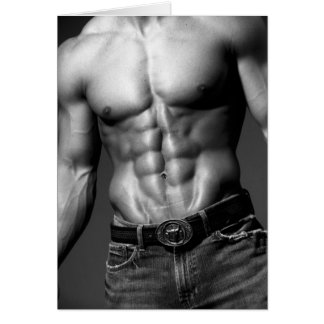 Male Abs Notecard #9 Note Card