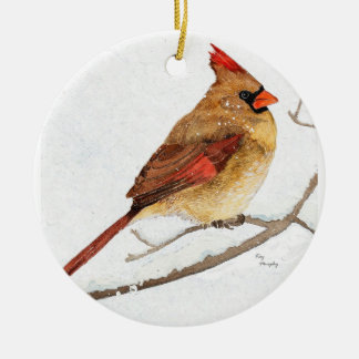 Male and Female cardinal Christmas Ornament