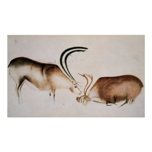 Male and female deer posters