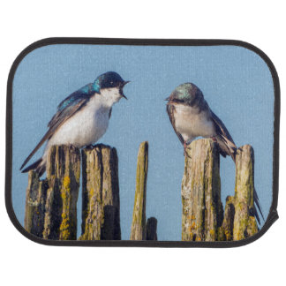 Male and female Tree Swallow Car Mat
