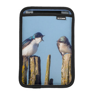 Male and female Tree Swallow iPad Mini Sleeve