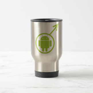 Male Android (Sign / Symbol) Bugdroid Travel Mug