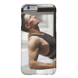 Male athlete using gymnastics equipment in gym barely there iPhone 6 case