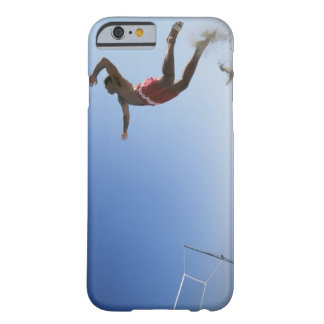 Male beach volleyball player jumping up to spike barely there iPhone 6 case