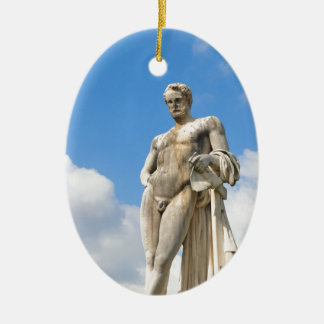 Male beauty christmas ornament