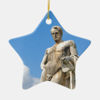 Male beauty christmas ornament
