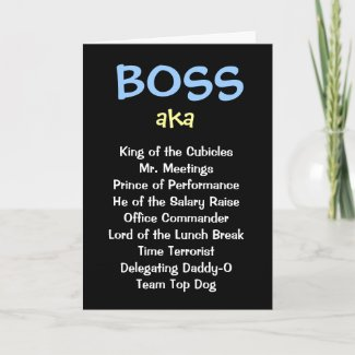 Male Boss Christmas Fuuny Cruel Joke Card