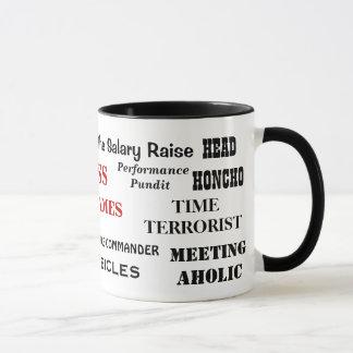 Male Boss Funny Cruel Nicknames Joke Mug