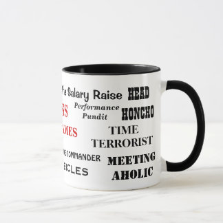 Male Boss Nicknames Funny Insults and Job Titles Mug