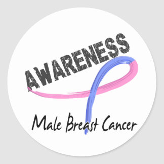 Male Breast Cancer Awareness 3 Stickers