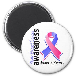 Male Breast Cancer Awareness 5 Fridge Magnets