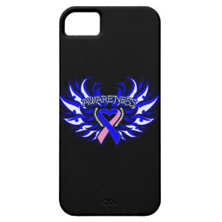 Male Breast Cancer Awareness Heart Wings iPhone 5 Case