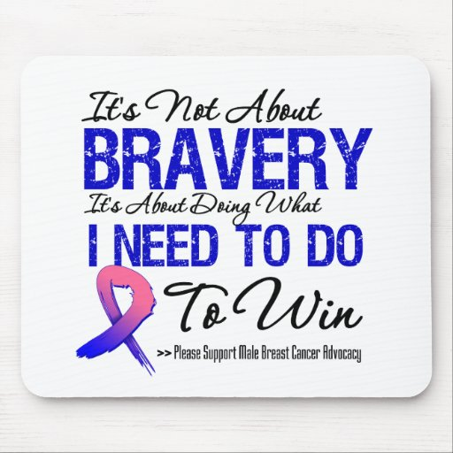 Male Breast Cancer Battle Mouse Pads