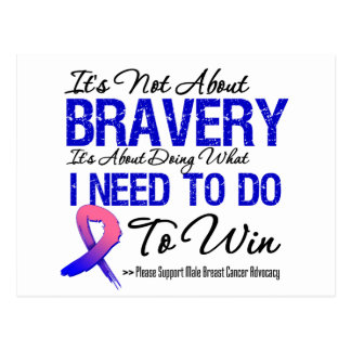 Male Breast Cancer Battle Postcard