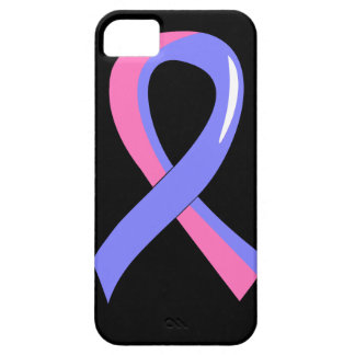 Male Breast Cancer Blue Pink Ribbon 3 iPhone 5 Cases