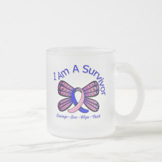 Male Breast Cancer Butterfly I Am A Survivor Coffee Mug