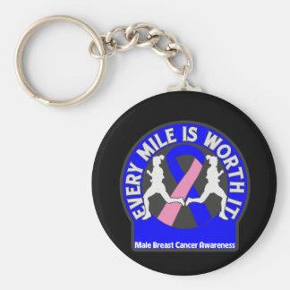 Male Breast Cancer Every Mile Is Worth It Keychain