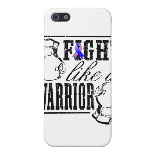 Male Breast Cancer Fight Like a Warrior iPhone 5 Case