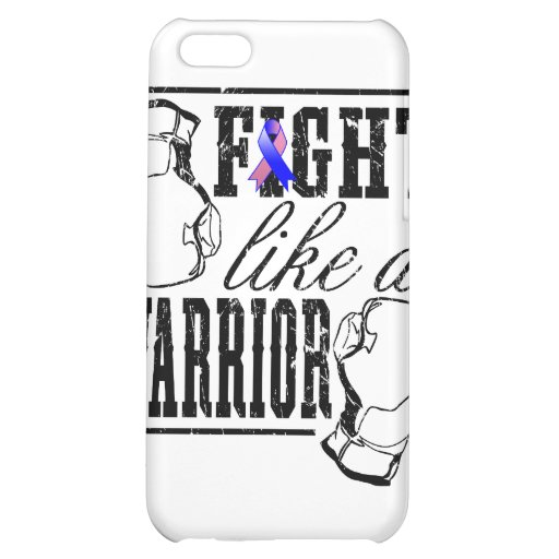 Male Breast Cancer Fight Like a Warrior iPhone 5C Case