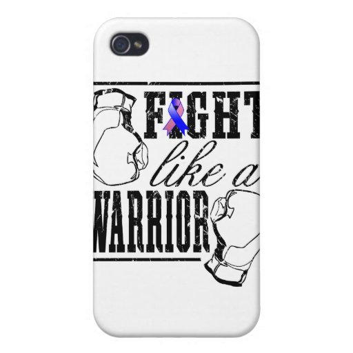 Male Breast Cancer Fight Like a Warrior Case For iPhone 4
